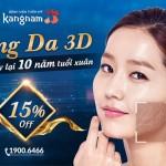 CĂNG DA MẶT 3D – XÓA NẾP THỜI GIAN – GIẢM TỚI 15%