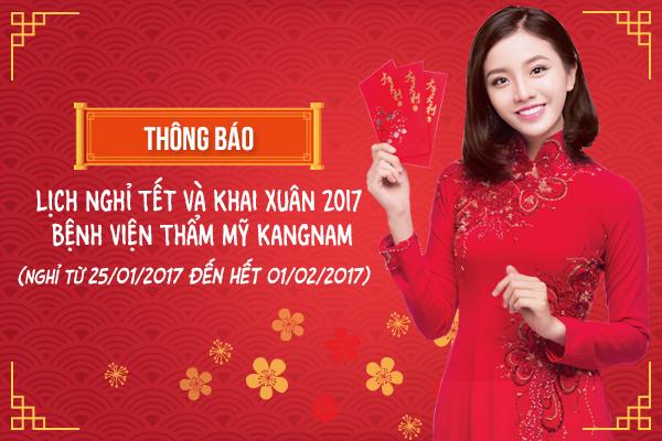 BVTM KANGNAM THÔNG BÁO NGHỈ TẾT VÀ KHAI XUÂN 2017