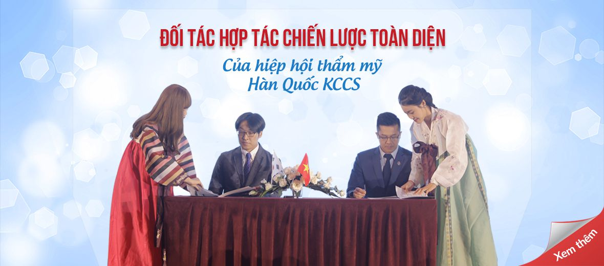 Kangnam - đối tác chiến lược lâu dài của Hiệp hội thẩm mỹ Hàn Quốc kccs