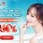 [OFF 50%] Tắm trắng sữa non tinh chất vàng Nano Trắng mướt mịn – Vạn người mê