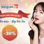 GIẢM NGAY 30% – Phun xăm Hàn Quốc – Lên đều màu – Đẹp bền lâu