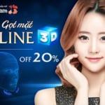 """Gọt mặt V-Line 3D –  Chuẩn tỉ lệ vàng – Đẹp không """"góc chết""""  [OFF 20%]"""