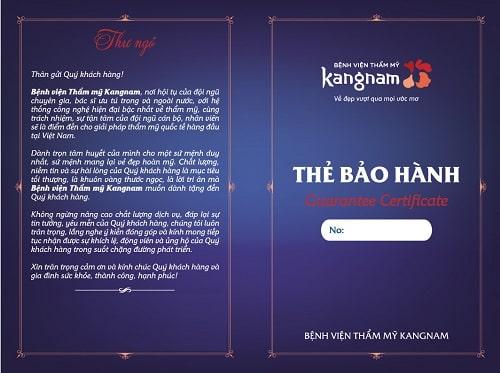 Bảo hành Kangnam