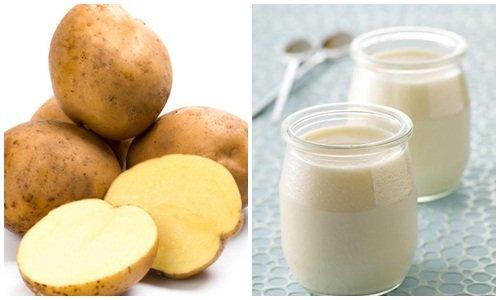 cách trị mụn cám bằng khoai tây