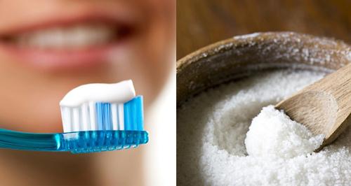 cách trị mụn bằng kem đánh răng và muối