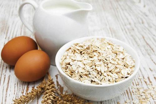 giảm cân bằng yến mạch và trứng
