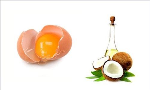 mặt nạ trứng gà dầu dừa