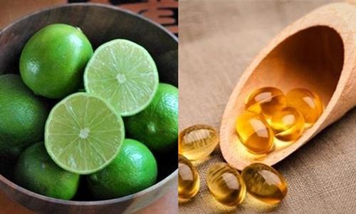 trị mụn thâm đỏ bằng vitamin e