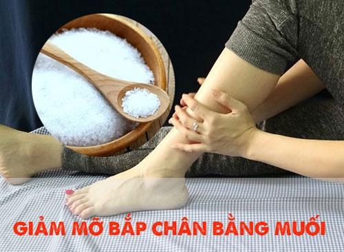 cách giảm mỡ bắp chân bằng muối