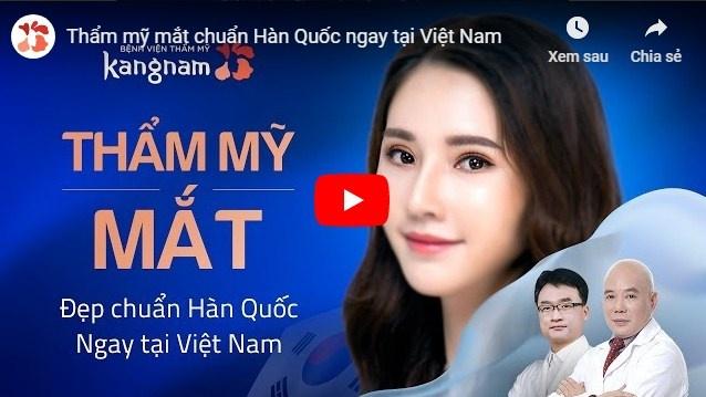 video cắt mí mắt bvtm kangnam