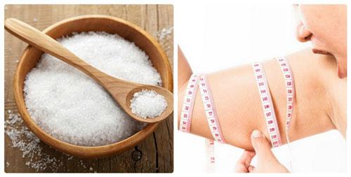 giảm mỡ bắp tay bằng muối