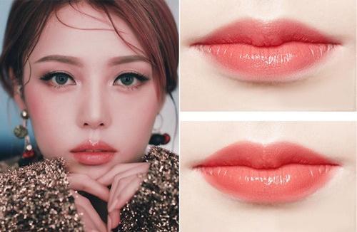phun môi màu hồng cam