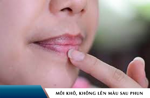 phun môi bao lâu thì lên màu