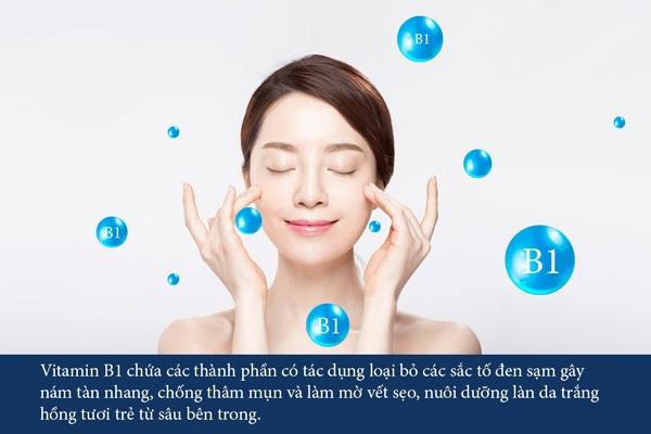 tác dụng của vitamin b1 đối với da