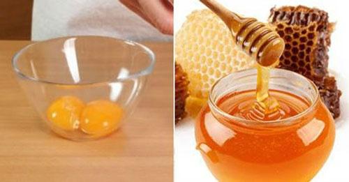 trị nám bằng mật ong và trứng gà