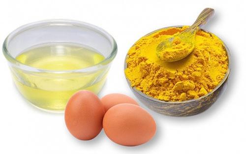 trị nám bằng nghệ và trứng gà
