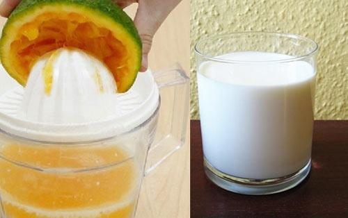 tắm trắng bằng cam và sữa tươi