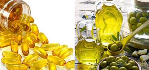 Kết quả hình ảnh cho hinh anh vitamin E VA oliu