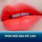 Review chi tiết phun môi màu đỏ cam phù hợp với ai? Giá bao nhiêu tiền?
