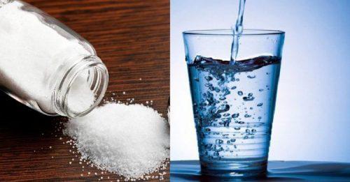 detox bằng cân bằng nước muối