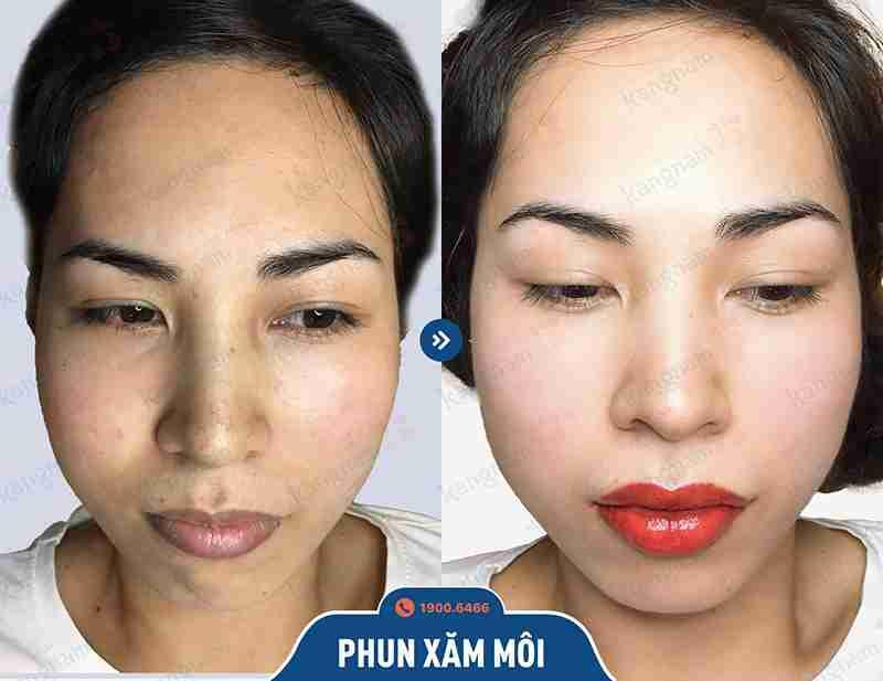 Chia sẻ hình ảnh khách hàng kangnam sau khi phun xăm